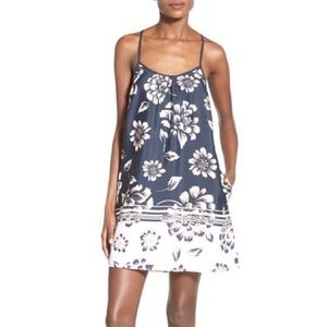 Navy blue floral Band of Gypsies dress
